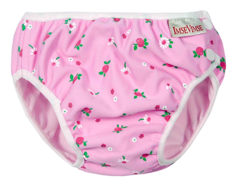 Детские непромокаемые трусики для бассейна Imsevimse Бело-розовые Цветы, - фото 1