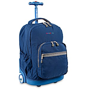 Универсальный школьный рюкзак на колесах JWORLD Sunrise арт. RBS18 Индиго